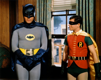 Bruce Wayne and Dick Grayson, in disguise.