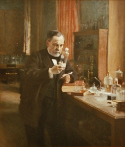 "Dr. Pasteur""ization"" doing science."